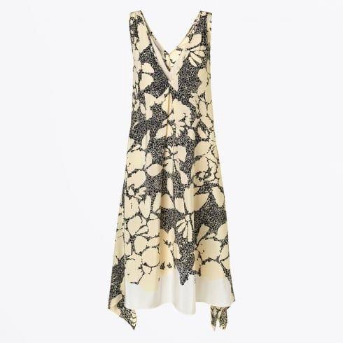 By Malene Birger - Quinesa V-Neck Swing Printed Dress - Black