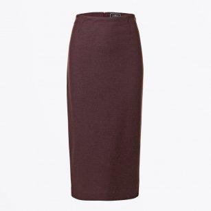 | Zikas Pencil Skirt - Plum