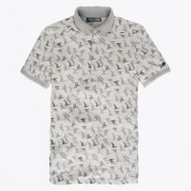 - Bird Print Polo - Grey