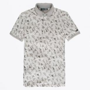   Bird Print Polo - Grey