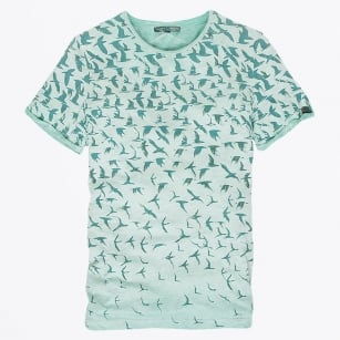- Bird Print T-Shirt - Green