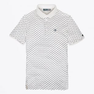 - Dot Printed Polo Shirt - Natural