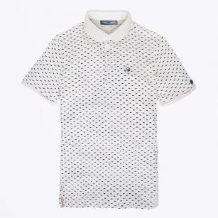 | Dot Printed Polo Shirt - Natural
