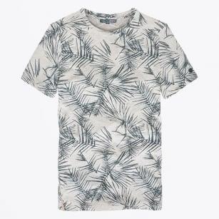 | Palm Printed T-Shirt - Ashley Blue