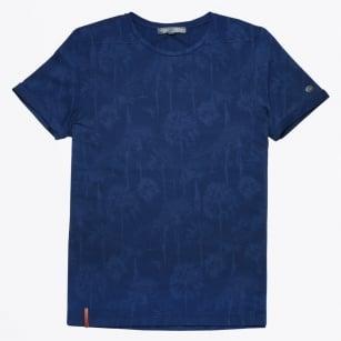 | Tie Dye Crew Jersey T-Shirt - Indigo