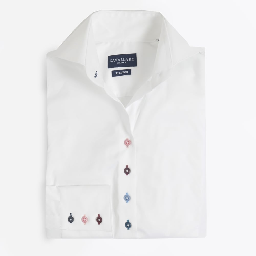 Colora Coloured Buttons Shirt | Womens Shirts | Cavallaro Napoli