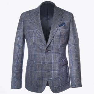 | Gadoni Peek Lapel Jacket - Navy