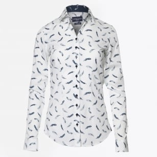 | Plumba Small Feather Print Shirt - White