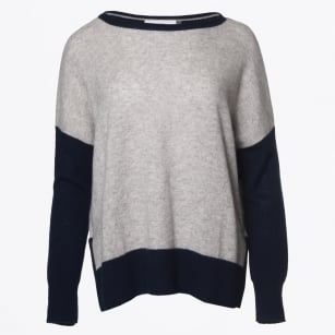 | Cressida Colour Block Jumper - Navy
