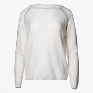   Crystal Striped Jumper - Off White