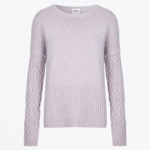 - Serin - Cable Knit Jumper - Lilac