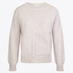 - Sivanne - Merino Pocket Sweater - Ivory