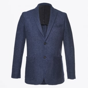 - Abel Textured Blazer - Blue