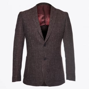 - Abel Textured Blazer - Bordeaux