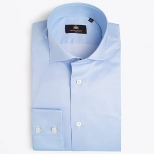 | Agostino WS Luxury Cotton Shirt - Light Blue
