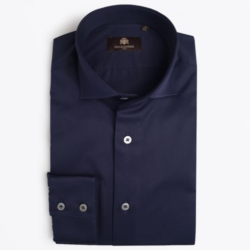 Circle Of Gentlemen - Agostino WS Luxury Cotton Shirt - Navy