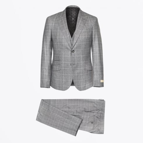 Circle Of Gentlemen - Alexander 3 Piece Check Suit - Grey