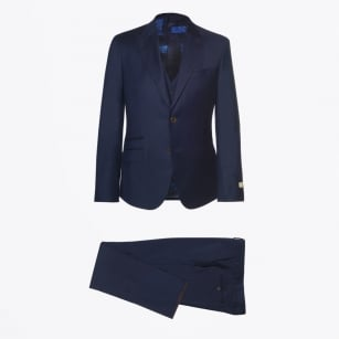 - Alexander 3 Piece Plain Suit - Navy