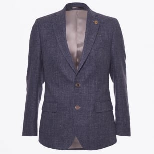 - Andreas Woven Fleck Blazer - Antique Blue