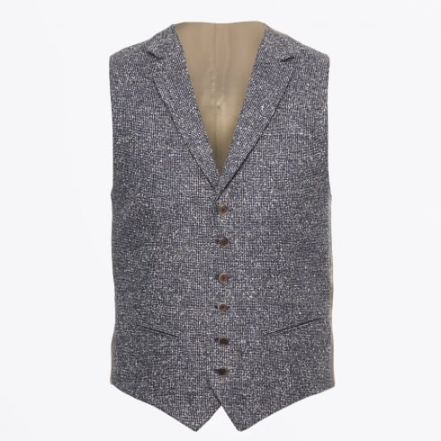 Circle Of Gentlemen - Axel Textured Waistcoat - Dark Blue