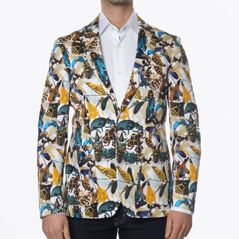Circle Of Gentlemen - Brooks Multicoloured Blazer - Bug Print ...