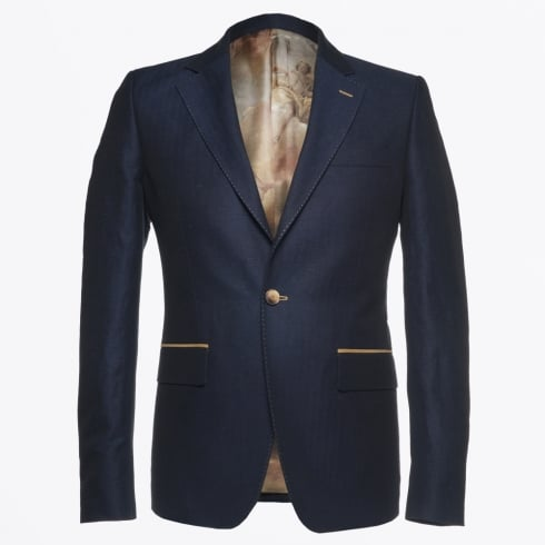 Circle Of Gentlemen - Harrison Linen Herringbone Jacket - Navy
