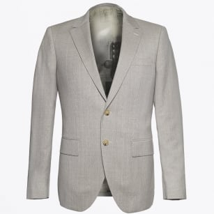 | Houston Fine Check Jacket - Sand