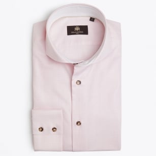 | Jackman - Fine Check Shirt - Pink