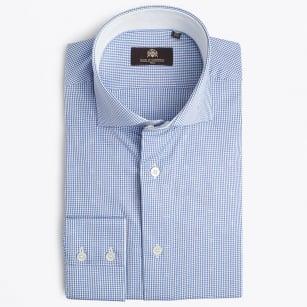 | Jafar Micro Gingham Shirt - Lavender