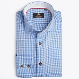 | Jamon Small Gingham Shirt - Dark Blue