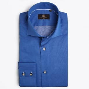 | Jannon - Micro Dot Pinpoint Shirt - Blue