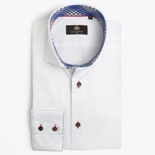 | Jean-Francois Check Inset Shirt - White