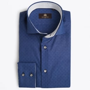 | Jeremy Stitch Detail Shirt - Blue