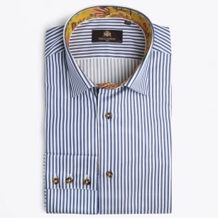 | Johnstone Stripe Shirt - Navy