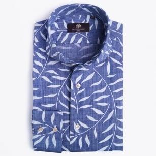 | Joscelyn Floral Print Shirt - Denim