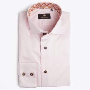 | Julian - Shell Floral Print Shirt - Light Pink