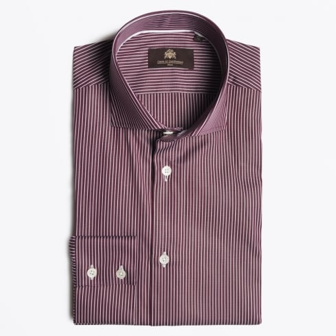 Circle Of Gentlemen - Kaario Stripe Shirt - Bordeaux