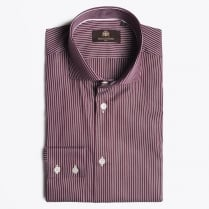 - Kaario Stripe Shirt - Bordeaux