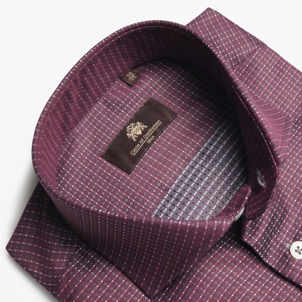 circle of gentlemen kael ws shirt bordeaux mr mrs. Black Bedroom Furniture Sets. Home Design Ideas