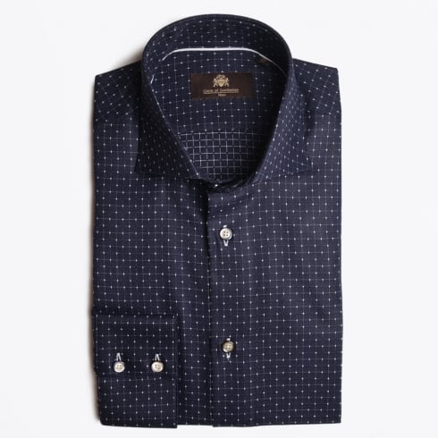 Circle Of Gentlemen - Kayron Fine Check WS Shirt - Navy