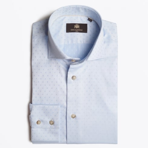 Circle Of Gentlemen - Kelsey Pinpoint Slub Shirt - Blu