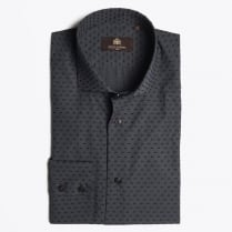 - Kent Dot Weave Shirt - Dark Grey