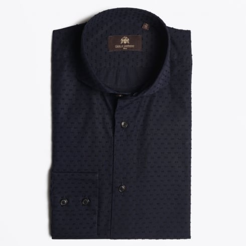 Circle Of Gentlemen - Kevin Pinpoint Shirt - Navy