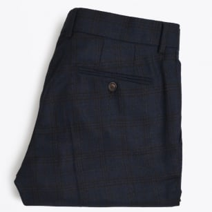 | Madoc Check Trousers | Piping - Navy