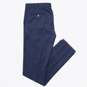 - Madoc Wool Pinpoint Trouser - Navy