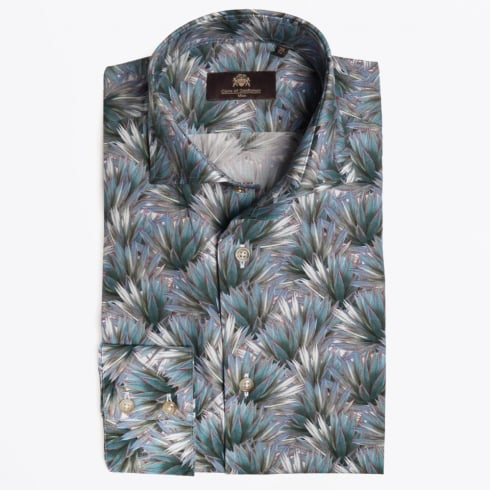 Circle Of Gentlemen - Mads Palm Print Shirt - Green