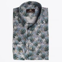 - Mads Palm Print Shirt - Green