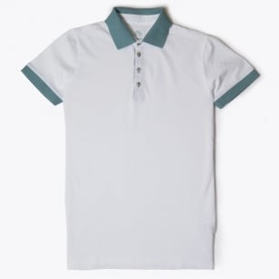 - Marco Palm Placket Polo Shirt - White