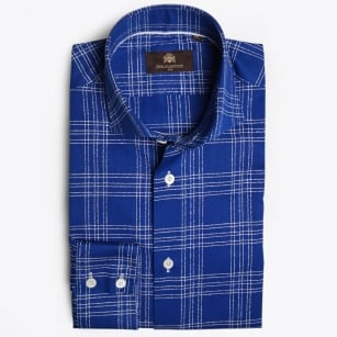 - Maxi Check Shirt - Blue