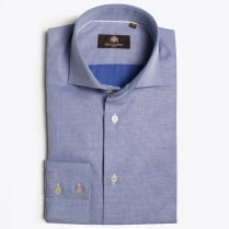- Maxim Pinpoint Weave Shirt - Blue